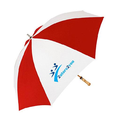 Red/White Umbrella '2utors2you'