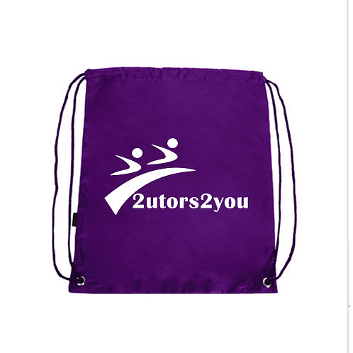 Purple Drawstring Backpack '2utors2you'