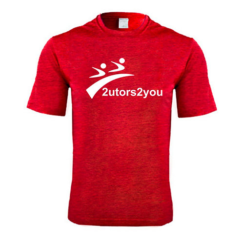 Performance Red Heather Contender Tee '2utors2you'