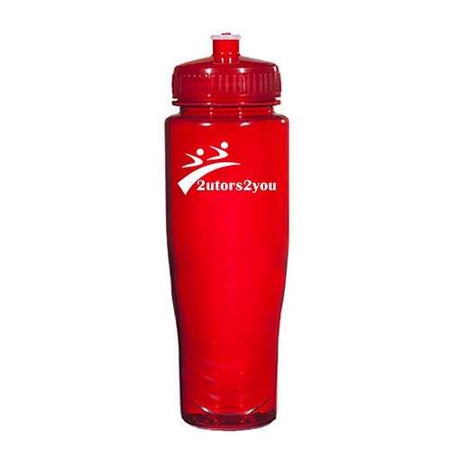 Spectrum Red Sport Bottle 28oz '2utors2you'