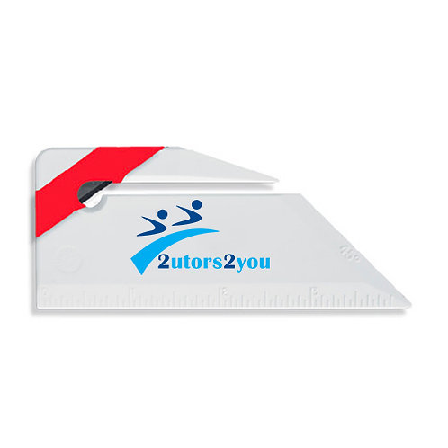 Angled Red Stripe Letter Opener '2utors2you'