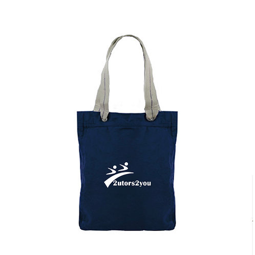 Allie Navy Canvas Tote '2utors2you'