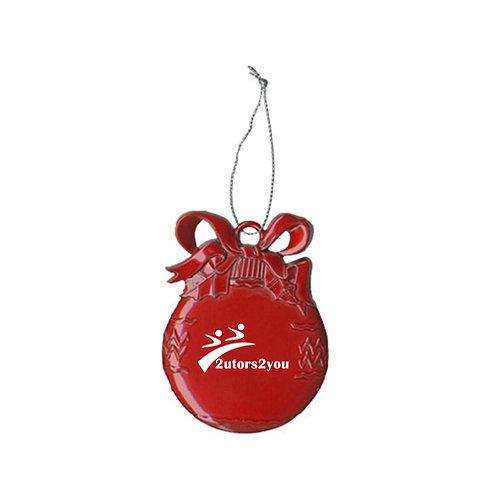 Red Bulb Ornament '2utors2you'
