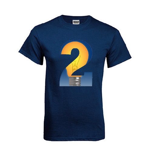 Navy T Shirt '2utors2you Entrepreneurship'