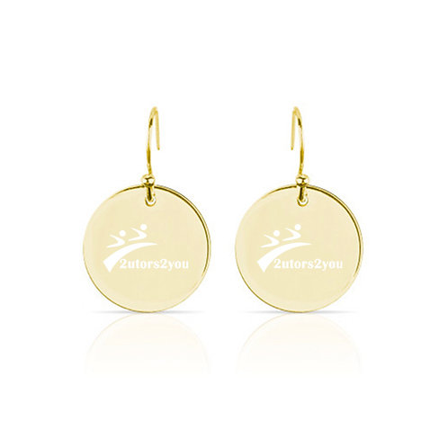 Olivia Sorelle Gold Round Pendant Drop Earrings '2utors2you'