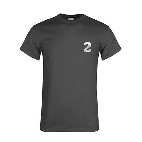 Charcoal T Shirt '2utors2you Language'