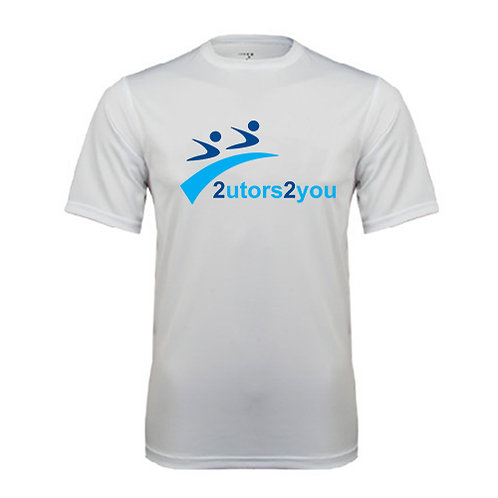 Performance White Tee '2utors2you'