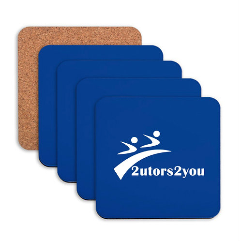 Hardboard Coaster w/Cork Backing 4/set '2utors2you'