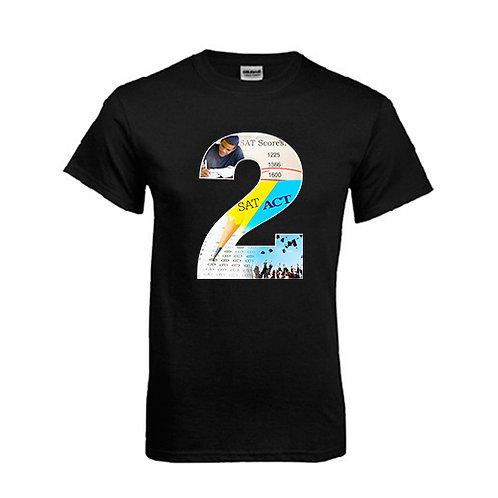 Black T Shirt '2utors2you SAT/ACT'