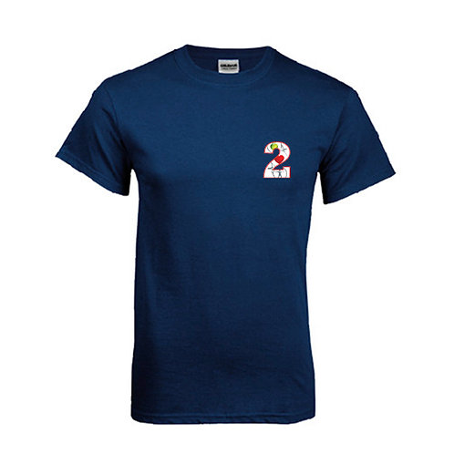 Navy T Shirt '2utors2you Health'