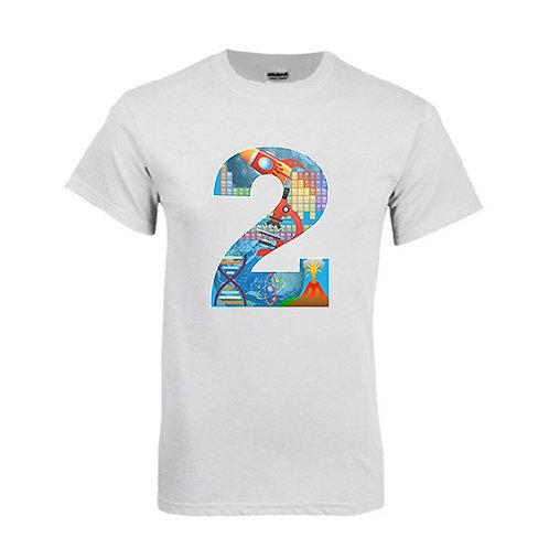 White T Shirt '2utors2you Science'
