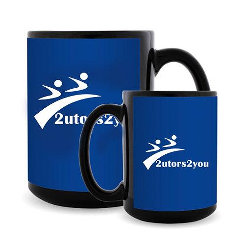 Full Color Black Mug 15oz '2utors2you'