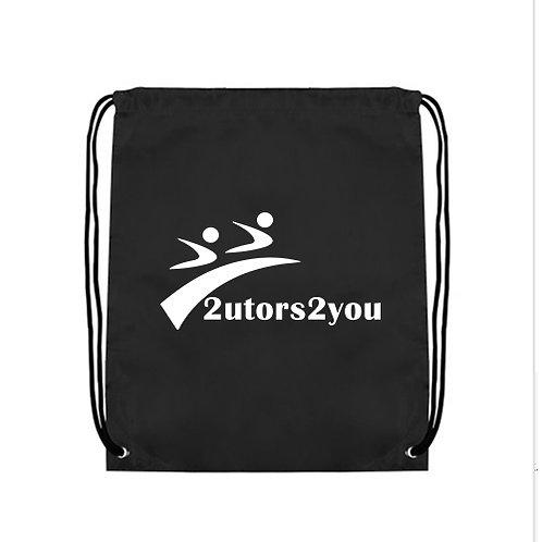 Black Drawstring Backpack '2utors2you'