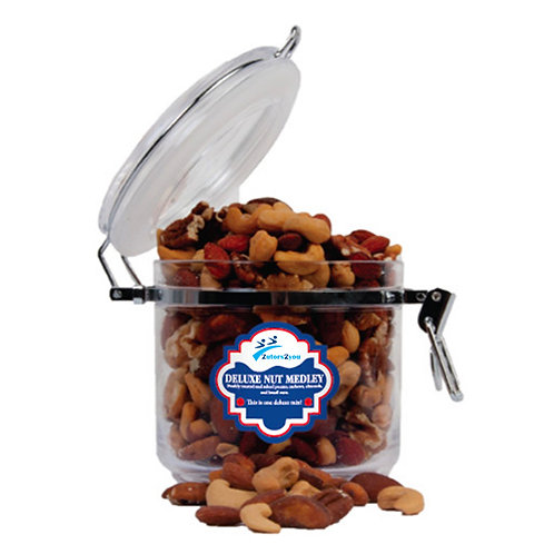 Deluxe Nut Medley Round Canister '2utors2you'
