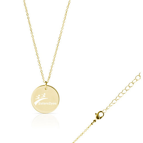Olivia Sorelle Gold Round Pendant Necklace '2utors2you'