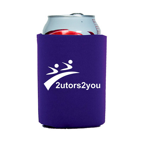 Neoprene Purple Can Holder '2utors2you'