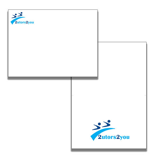 A6 Folded Cards w/Personalized Envelopes '2utors2you'