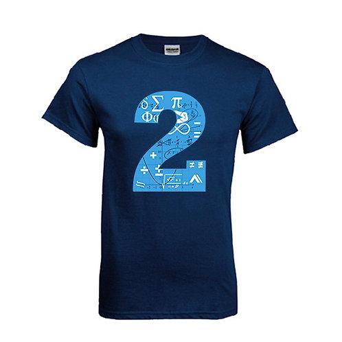 Navy T Shirt '2utors2you Math'