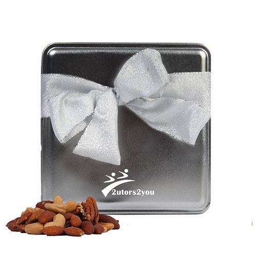 Deluxe Nut Medley Silver Medium Tin '2utors2you'