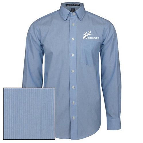 French Blue/White Striped Long Sleeve Shirt '2utors2you'