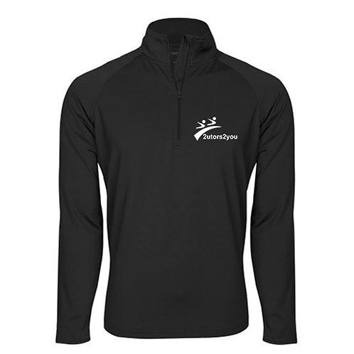 Sport Wick Stretch Black 1/2 Zip Pullover '2utors2you'