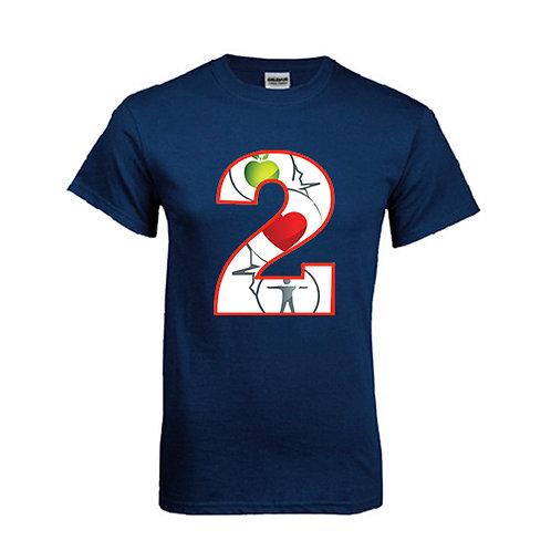 Navy T Shirt '2utors2you Health'