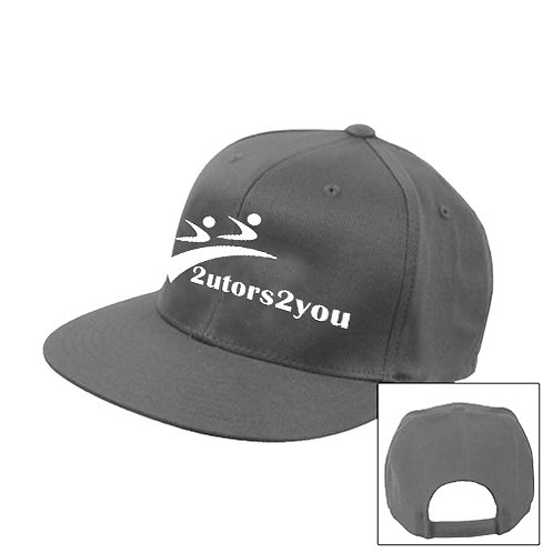 Charcoal Flat Bill Snapback Hat '2utors2you'