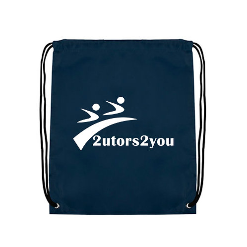Navy Drawstring Backpack '2utors2you'
