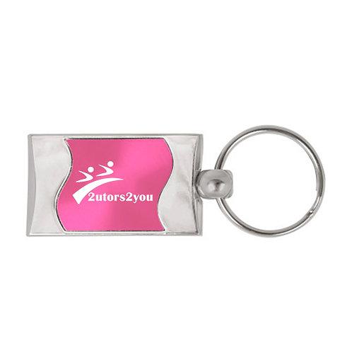 Silverline Pink Wave Key Holder '2utors2you'