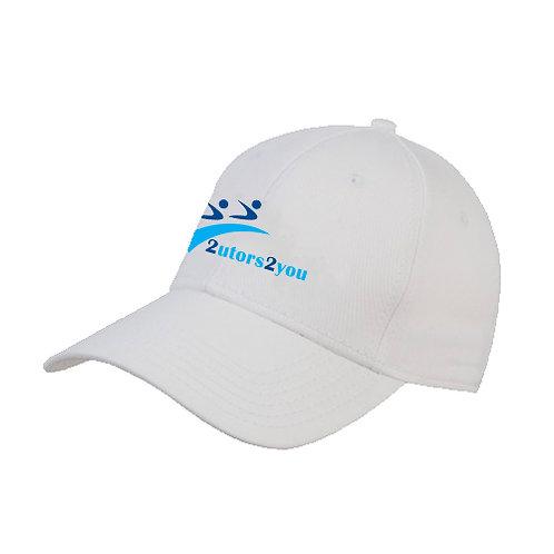 White Heavyweight Twill Pro Style Hat '2utors2you'