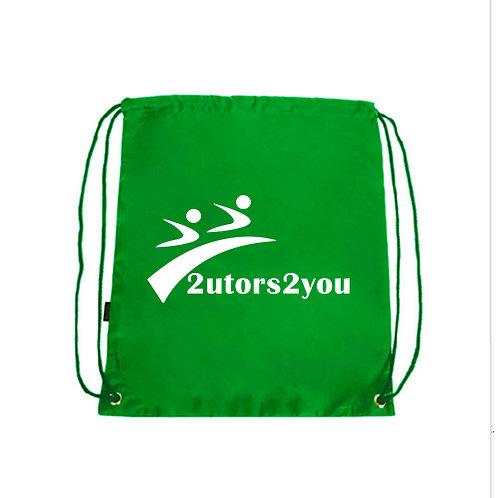 Green Drawstring Backpack '2utors2you'