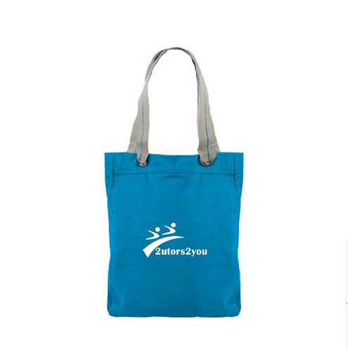 Allie Turquoise Canvas Tote '2utors2you'