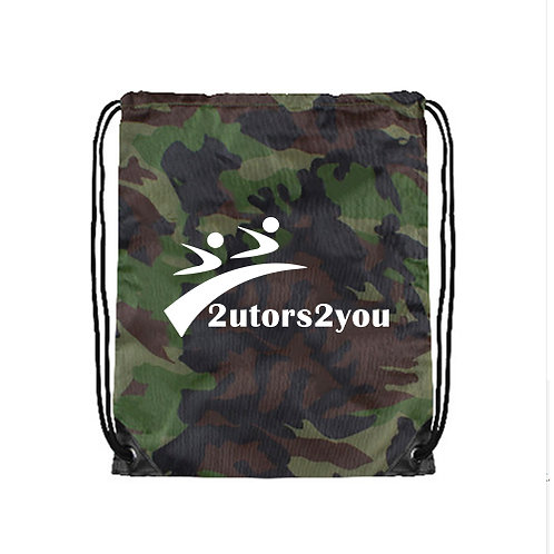 Camo Drawstring Backpack '2utors2you'