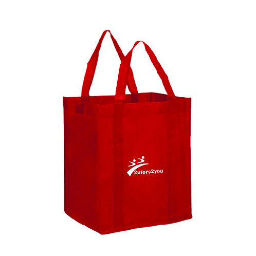 Non Woven Red Grocery Tote '2utors2you'