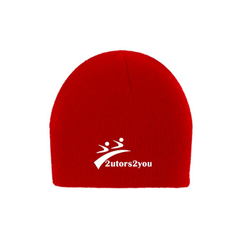 Red Knit Beanie '2utors2you'