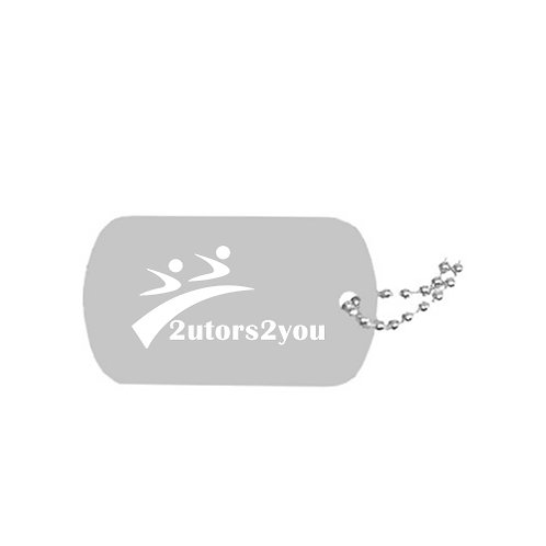 Silver Dog Tag Necklace '2utors2you'