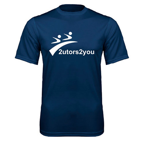 Performance Navy Tee '2utors2you'
