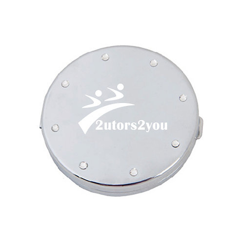 Silver Bling Compact Mirror '2utors2you'