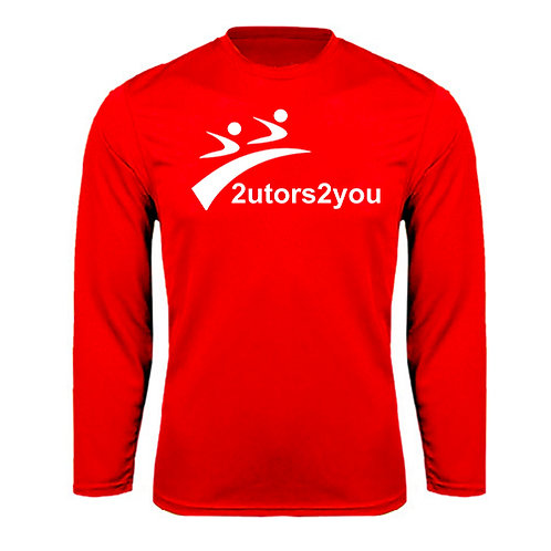 Performance Red Longsleeve Shirt '2utors2you'