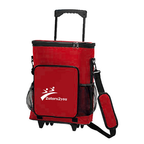 30 Can Red Rolling Cooler Bag '2utors2you'