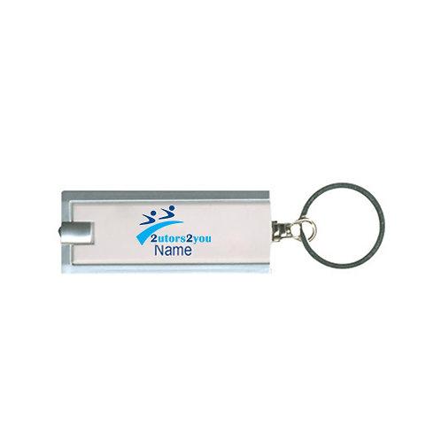 Turbo White Flashlight Key Holder '2utors2you'