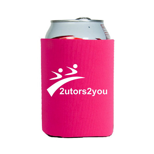 Neoprene Hot Pink Can Holder '2utors2you'