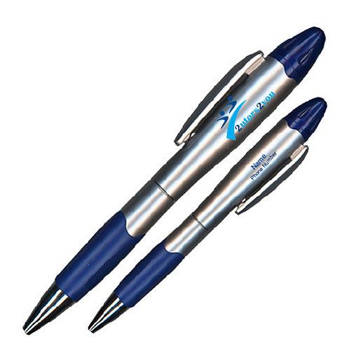Silver/Blue Blossom Pen/Highlighter '2utors2you'