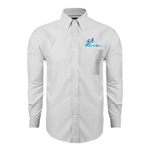 White Oxford Long Sleeve Shirt '2utors2you