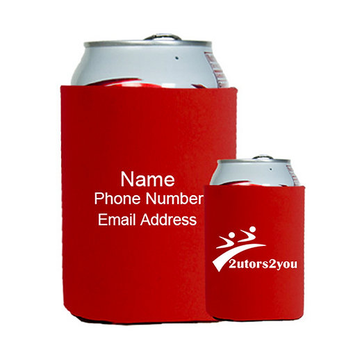 Neoprene Red Can Holder '2utors2you'