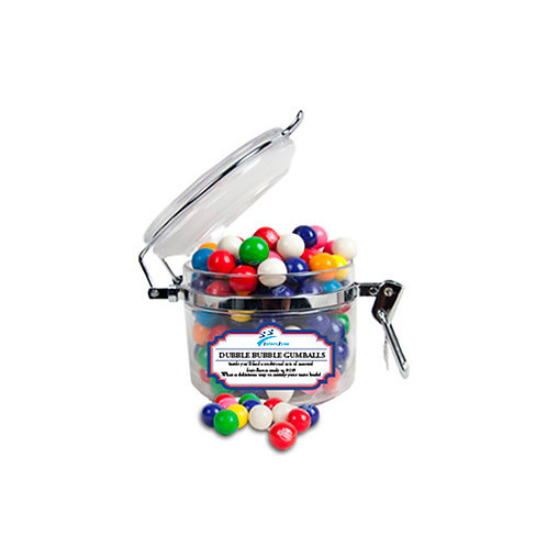 Dubble Bubble Gumballs Small Round Canister '2utors2you'