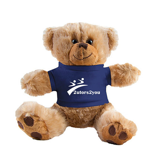 Plush Big Paw 8 1/2 inch Brown Bear w/Navy Shirt '2utors2you'