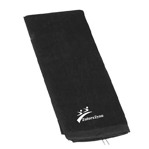 Black Golf Towel '2utors2you'