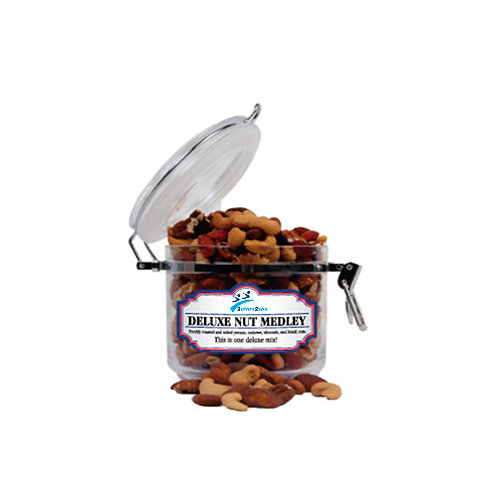 Deluxe Nut Medley Small Round Canister '2utors2you'