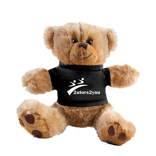 Plush Big Paw 8 1/2 inch Brown Bear w/Black Shirt '2utors2you'